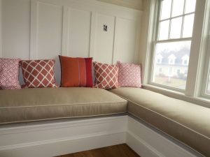 2015 photos of upholstered furniture and cushion at Cape Cod Upholstery Shop located on Cape Cod in South Dennis, MA 02660