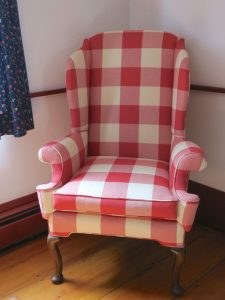 Plaid Wing Chair | Cape Cod Upholstery Shop | South Dennis, MA