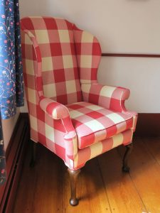 Plaid Wing Chair   Cape Cod Upholstery Shop   South Dennis, MA
