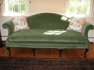 2007 photos of upholstered furniture and cushion at Cape Cod Upholstery Shop located on Cape Cod in South Dennis, MA 02660