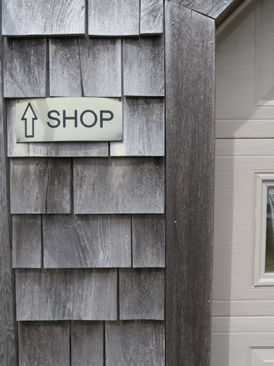Photo showing entrance to Cape Cod Upholstery Shop located in South Dennis, Ma | Joe Gramm Upholsterer