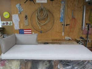 "74"" Window Seat Cushion with Bolsters 