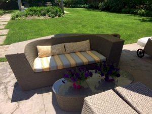 Outdoor Sunbrella Cushion | Joe Gramm upholsterer | Cape Cod Upholstery Shop South Dennis, MA