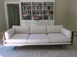 Thayer Coggin Sofa at home with a Sunbrella Fabric | Cape Cod Upholstery Shop | South Dennis, MA