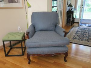 Queen Anne Style Chair | Upholstered by Cape Cod Upholstery Shop | South Dennis, MA