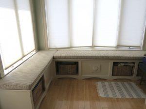 L Shape Window Seat | Cape Cod Upholstery Shop | South Dennis, MA