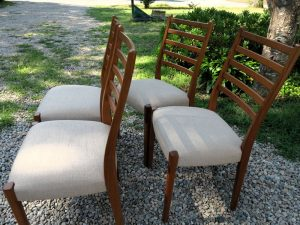 Set of 4 Dining Chairs | Upholstered by Cape Cod Upholstery Shop | South Dennis, MA