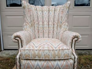 Channel Back Wing Chair | Cape Cod Upholstery Shop | South Dennis, MA