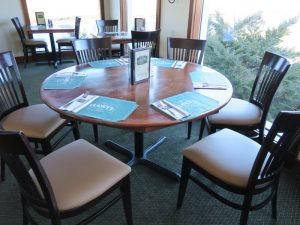 Clancy's Restaurant Chair Seats | Upholstered by Cape Cod Upholstery Shop | Located in South Dennis, Ma