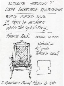 Herbert Senn & Helen Pond Drawing | Cape Cod Upholstery Shop | Located in South Dennis, MA