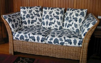 Photo of upholstered chair | 2003 Photo Gallery | Cape Cod Upholstery Shop | South Dennis, MA 02660