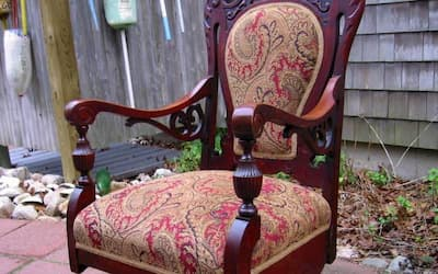 Photo of upholstered chair | 2005 Photo Gallery | Cape Cod Upholstery Shop | South Dennis, MA 02660