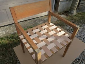 """Teak Chair Manufactured by Design Within Reach 