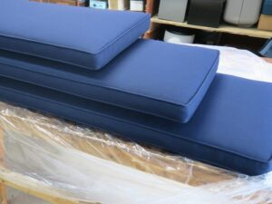 Sunbrella Canvas-Navy Window Seat Cushions | Three different sizes | Upholstered by Cape Cod Upholstery Shop | Located in South Dennis, MA 02660