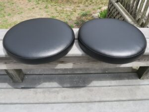 """Round Bar Stool Seats with 2"""" Boxing 