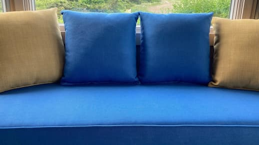 Custom Window Seat Cushions | Upholstered by Cape Cod Upholstery Shop | Located in South Dennis, MA 02660
